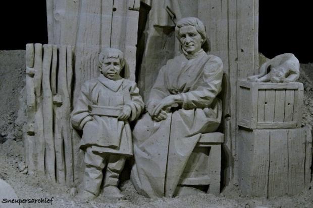 Drentse geschiedenis in zandsculpturen